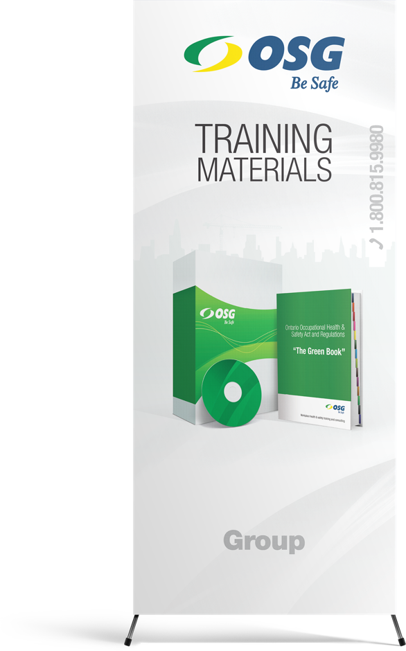 OSG Be Safe Training Materials Pull-Up Stand-Up Banner