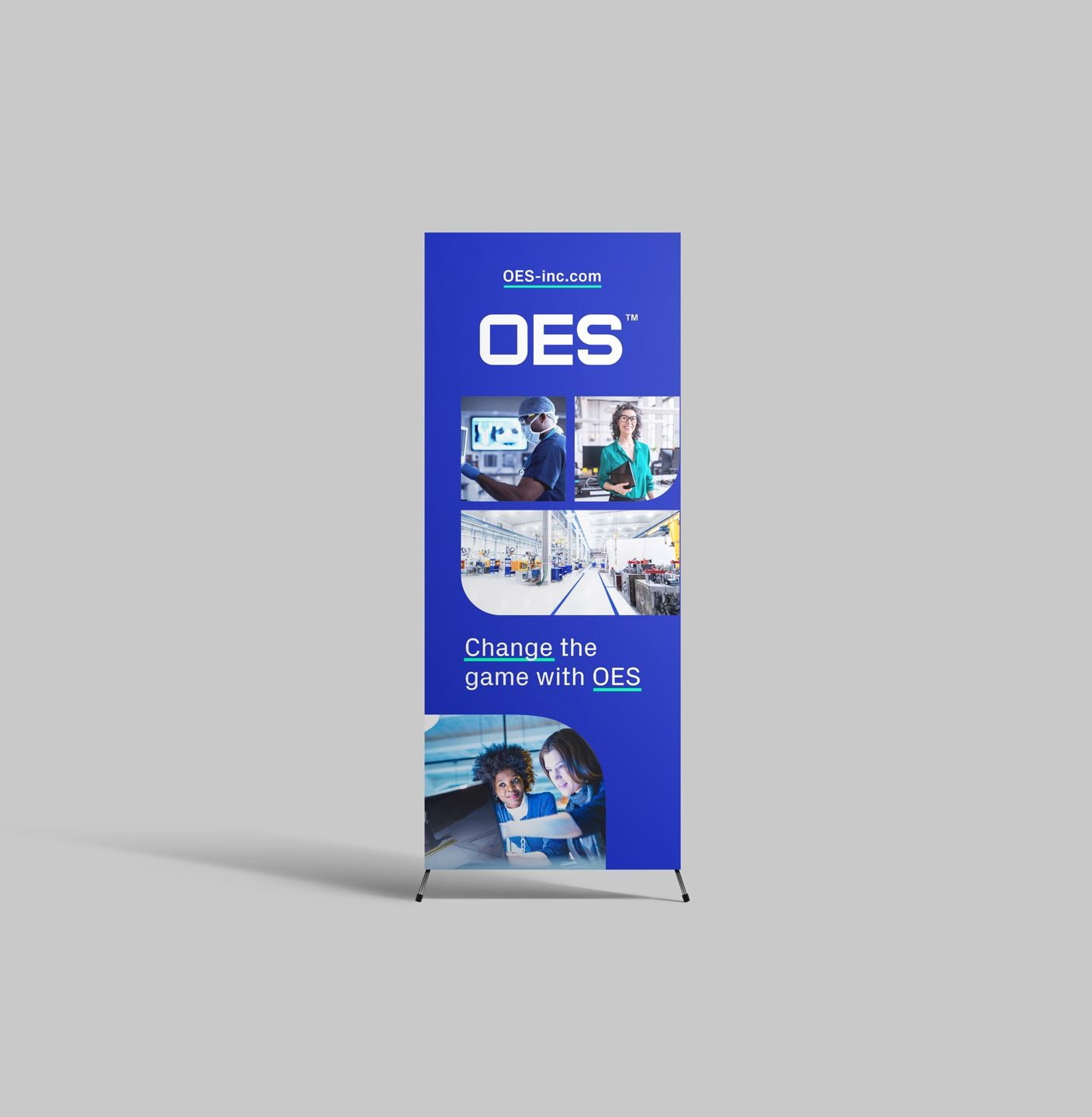 OES Tradeshow Pull-Up Stand-Up Banner