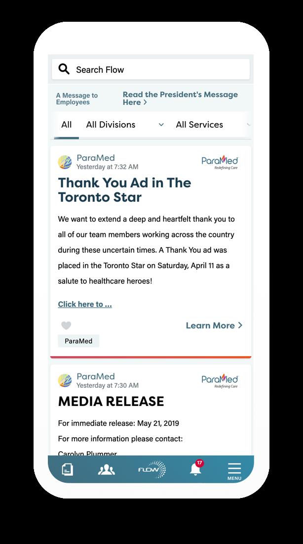Flow mobile webpage loaded